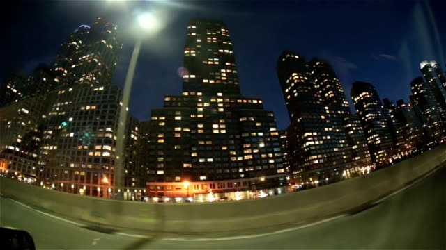 Midtown manhattan buildings driving taxi passenger pov NYC video