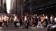 Midtown Manhattan Crosswalk Slow Motion video