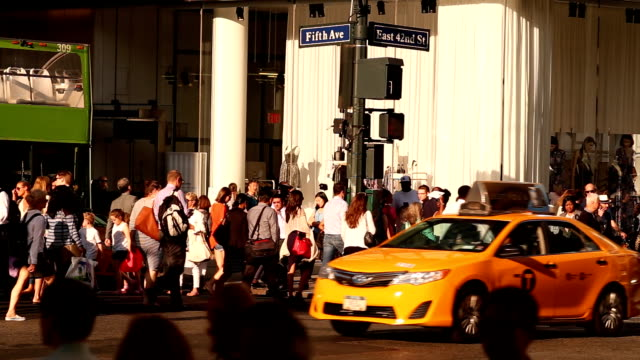 Midtown Manhattan Street Scene in New York City video