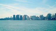 midtown manhattan view 4k time lapse from guntry plaza state park ny video