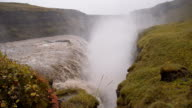 SLO MO Mighty Gullfoss waterfall in Iceland video