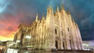 Milan cathedral duomo, Time lapse video