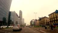 Milan traffic timelapse video