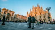 Milano cathedral duomo center of city in the morning video