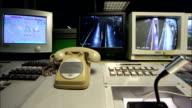 Milano Underground Surveillance Monitors Timelapse video