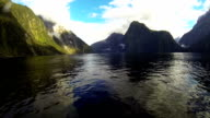 Milford Sound, New Zealand. video