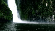 milford sound waterfall video