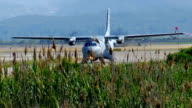 Military aircraft CASA CN-235M get ready to formation flight video