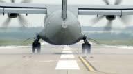 Military aircraft NAVY CASA CN-235M landing video