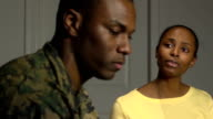 Military Couple have Emotional Conversation video
