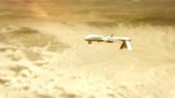 Military drone (UAV) seeking enemies. video