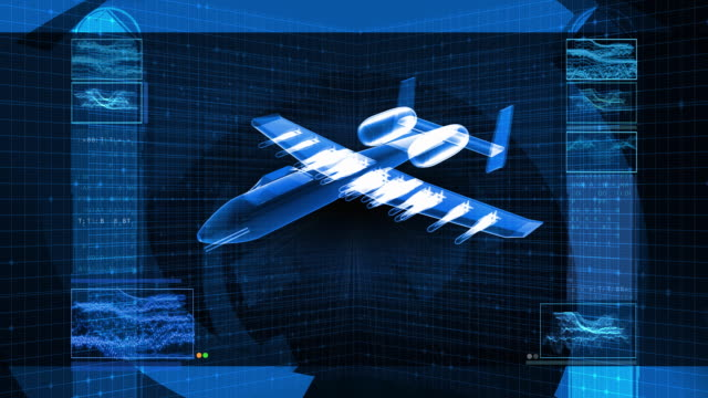 Military Fighter Jet 3D Design Schematic video