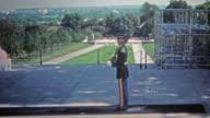 WASHINGTON DC 1951: Military guard at Arlington National Cemetery marches. video