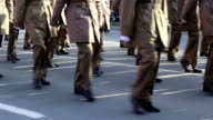 Military Marchpast Close Up video
