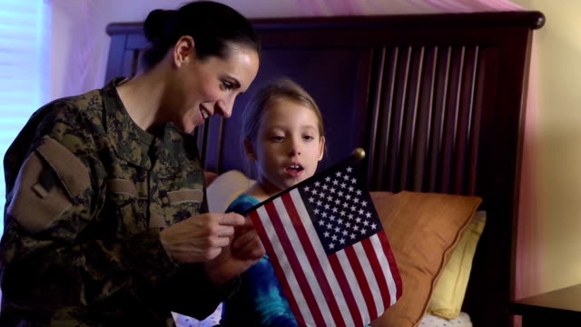 Military Mom Explains US Flag to Daughter video