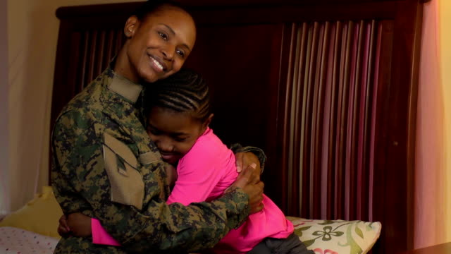 Military Mother Embraces her Daughter video