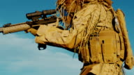 Military operations, special mission in deserts of middle east carrying weapons to take out unknown target. Extremely dangerous. Collection video