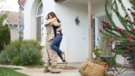Military Soldier Returns From Deployment Porch video