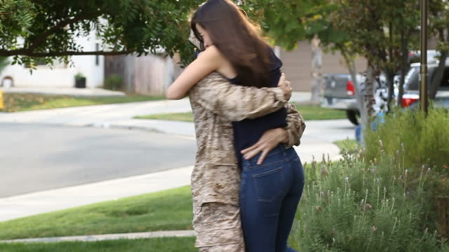 Military Soldier Returns From Deployment MS video