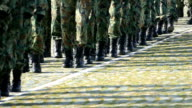 Military Soldiers Marching-slowmotion video