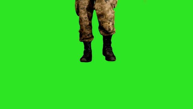 Military Steps (green screen) video