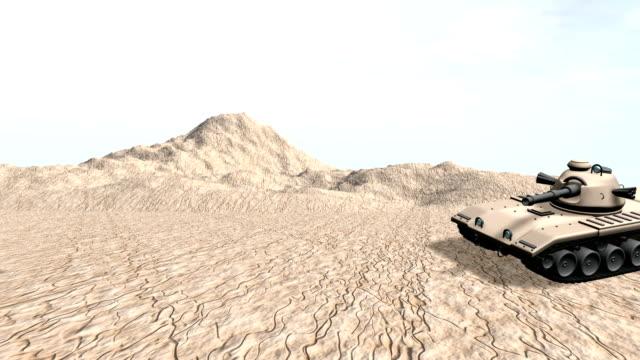 Military tank in the desert firing HD 1080i video