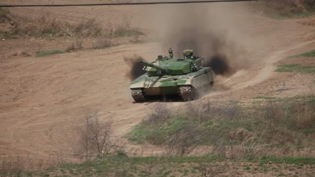 T99 military tank running video