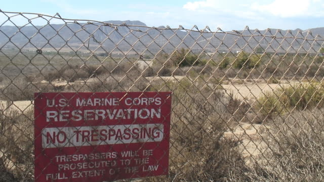 (HD1080i) US Military: Traffic Through Marine Base video