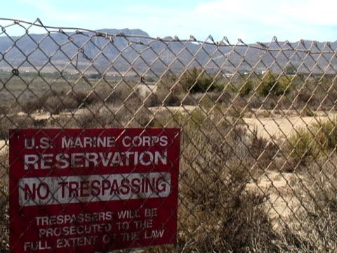 US Military: Traffic Through Marine Base video