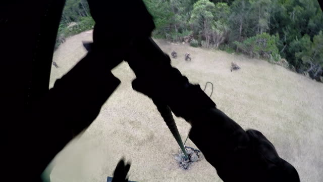 Military Troops Fast Roping video