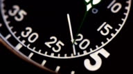 Military vintage stopwatch clock face close up. video