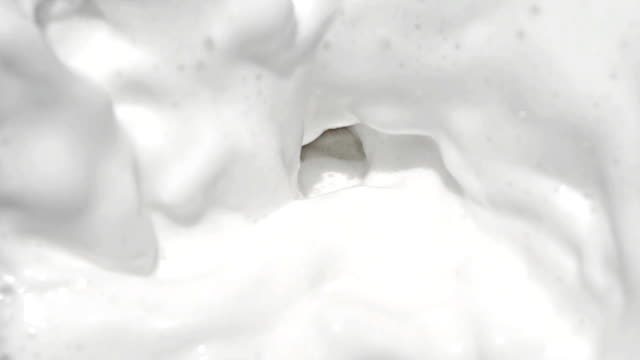 Milk at slow motion video