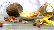 milk being poured on corn flakes video