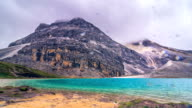 Milk lake in peak of snow mountains at Yading Nature Reserve, China. video