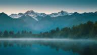 Milky Way Above Snow Peak Mountain, Mount Cook National Park, New Zealand video