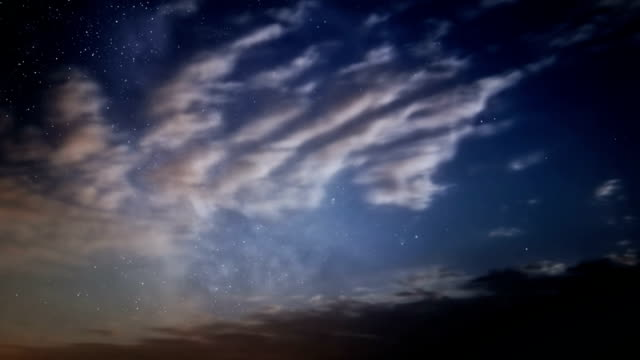 Milky Way and clouds video