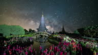 Milky way galaxy at Doi inthanon Chiang mai Thailand video