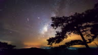 Milky way, Time lapse video
