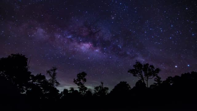 Milky Way. (Time lapse) video