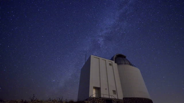 Milky Way with Telescope / Stop Motion Video video
