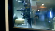 Milling cutting metalworking process. Slow motion video