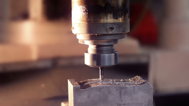 Milling Machine in Operation (close-up) video