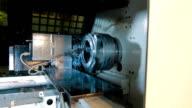 Milling machine milled steel detail video