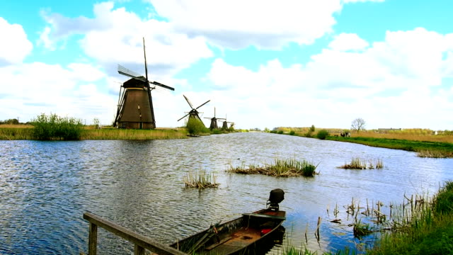 Mills Kinderdijk, Netherlands. video