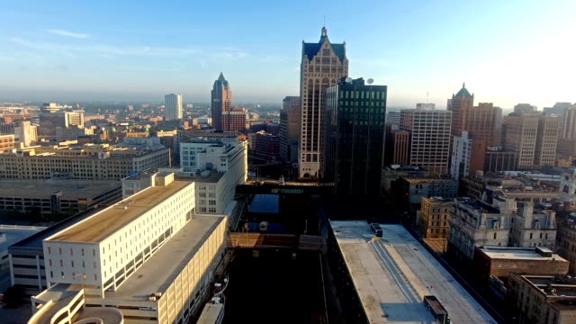 Milwaukee River Skyline Architecture downtown video