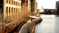 Milwaukee River Walk Menomonee River Downtown video
