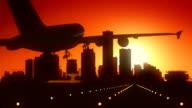 Milwaukee Wisconsin USA America Skyline Sunrise Landing video