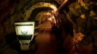 Mine cart in tunnel video