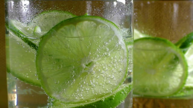 Mineral water soda with lime video