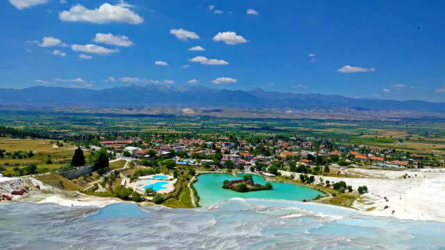 minerals in Pamukkale video